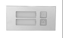 Immagine di MODULO 2 PULSANTI IN ALLUMINIO IP65 ANTIVANDALO PER VTO 4202F-P