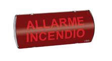 Immagine di PANNELLO DI SEGNALAZIONE A LUCE FISSA AUTONOMO IP65 NEON 220VCA CON COMANDO