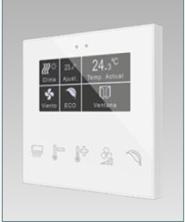 """Immagine di TASTIERA CAP. FLAT 5 TASTI DISPLAY LCD 2.4""""  COL. BIANCO"""